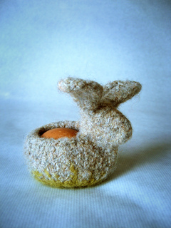 Felted Egg Cozy Critters by Jenn Maple