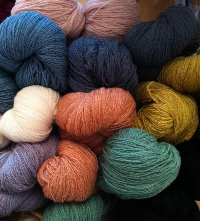 A selection of soft shades of Tvinni