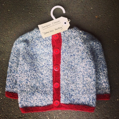 Class project: Top-down seamless baby cardigan