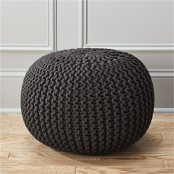 knitted-graphite-pouf