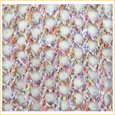 mesh scarf close up